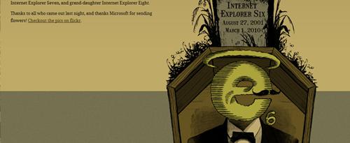 Официальная смерть Internet Explorer 6 (жутковатая, конечно, картинка)