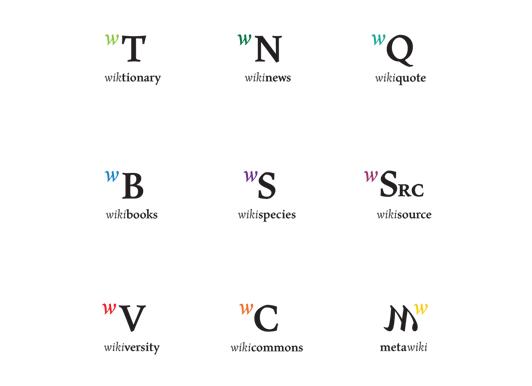 Логотипы подпроектов Викимедиа